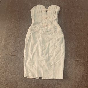 White leather 1980's Dress